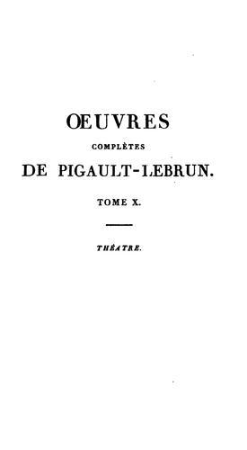 Oeuvres complètes de Pigault Lebrun