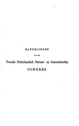 Handelingen van het Nederlandsch natuur- en geneeskundig congres