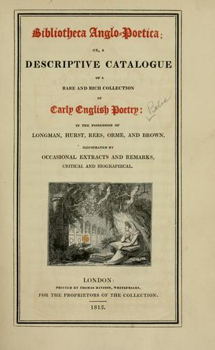 Bibliotheca anglo-poetica