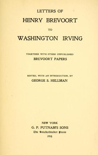 Letters of Henry Brevoort to Washington Irving