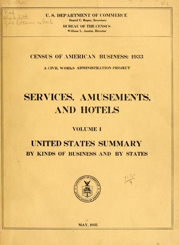 Census of American business: 1933.