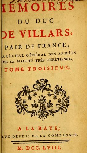 Download Mémoires du duc de Villars