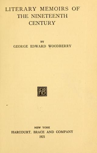 Download Literary memoirs of the nineteenth century