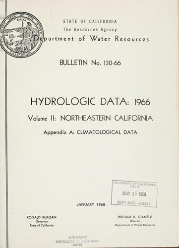 Download Hydrologic data, 1966.