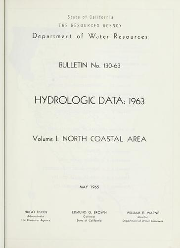 Hydrologic data, 1963.