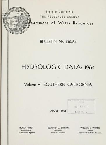 Hydrologic data, 1964.