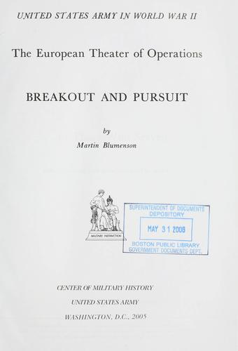 Download Breakout and pursuit