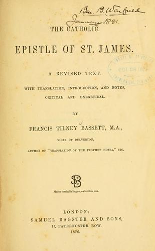 Download The Catholic epistle of St. James
