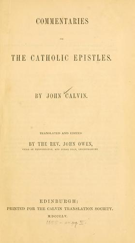 Download Commentaries on the Catholic Epistles