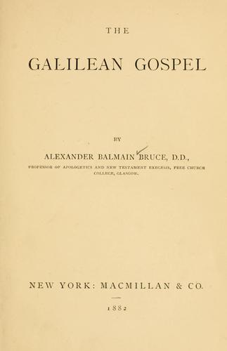 Download The Galilean gospel