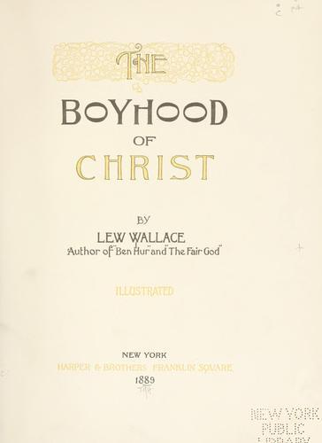 Download The boyhood of Christ.