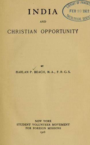 Download India and Christian opportunity