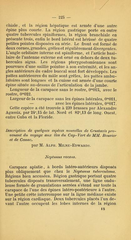 Description de quelques especes nouvelles de Crustaces provenant du voyage aux iles du Cap-Vert de MM. Bouvier et de Cessac