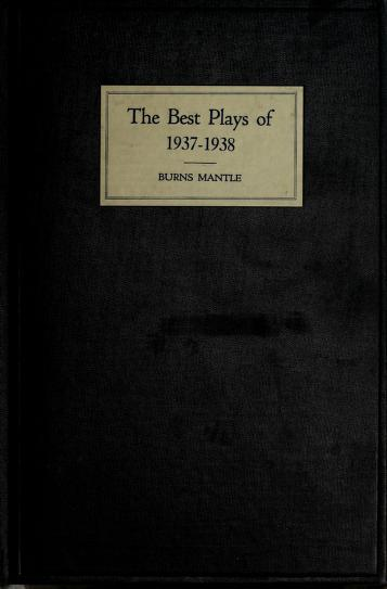 The Best plays of 1937-38 by Burns Mantle