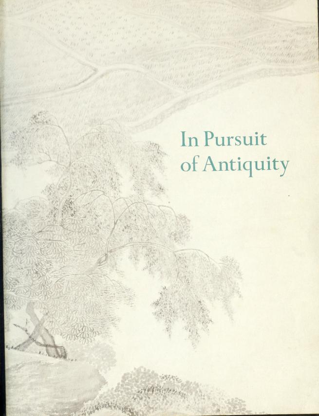 In pursuit of antiquity by Roderick Whitfield