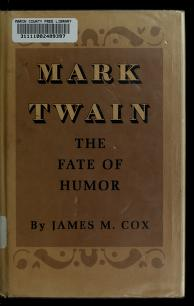 Cover of: Mark Twain | Cox, James M.