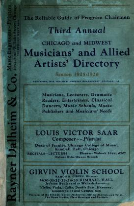 Cover of: Midwest musicians' and allied artist' directory |