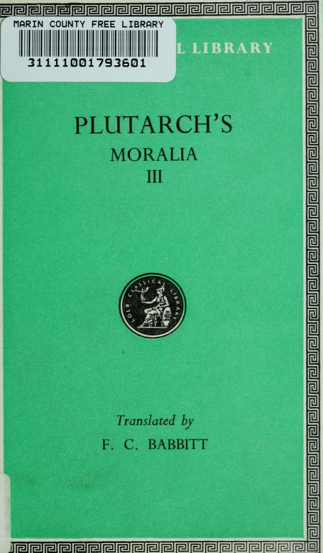 Plutarch's Moralia by Plutarch