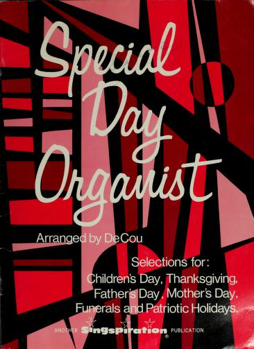 Special day organist by Harold DeCou