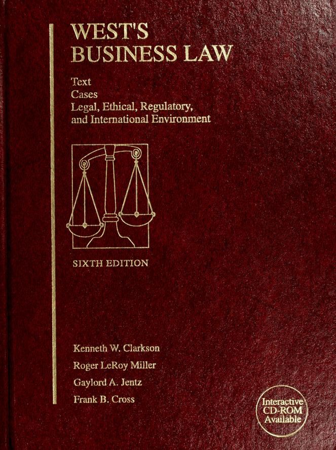 West's Business Law by Kenneth W. Clarkson