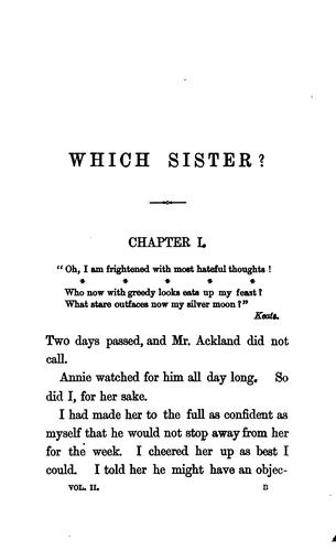 Which sister? By Sydney Mostyn by William Clark Russell