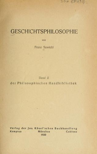 Geschichtsphilosophie.