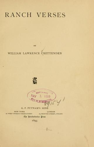 Ranch verses by Chittenden, William Lawrence