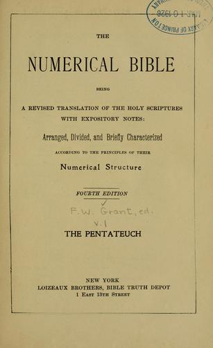 The numerical Bible by Frederick W. Grant