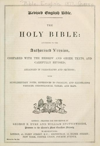 Revised English Bible by