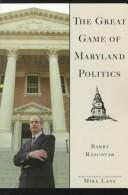 The Great Game of Maryland Politics by Barry Rascovar